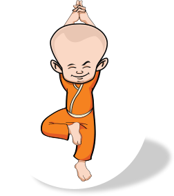 Monk In Yoga Position