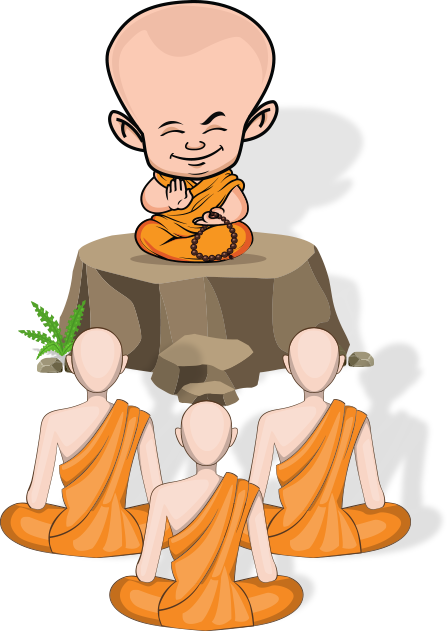 Monk With Their Followers