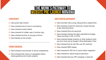 website pre-launch