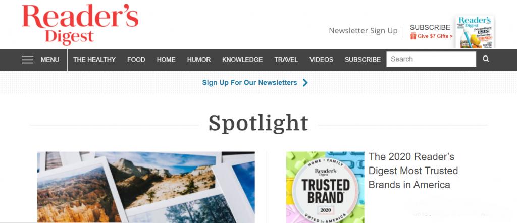 WordPress Portals - Reader's Digest