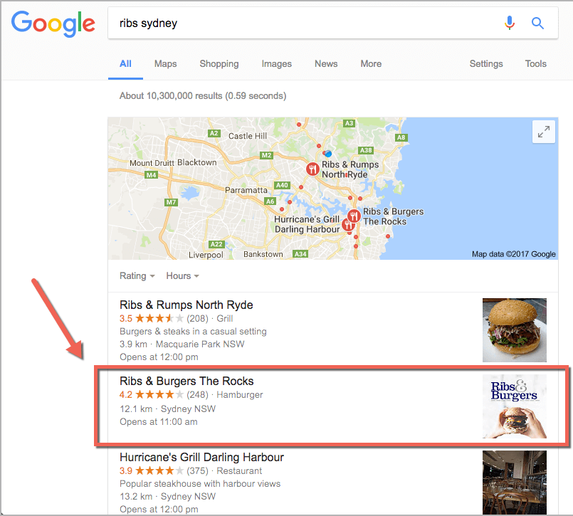 restaurant marketing - ribs sydney