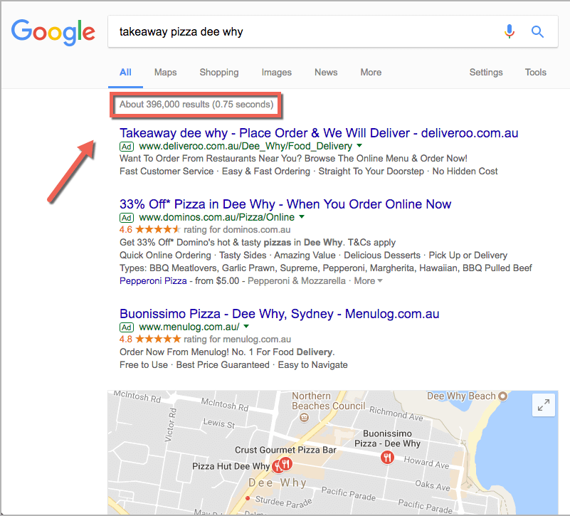 restaurant marketing - takeaway pizza