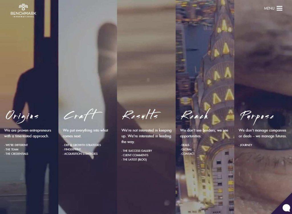 split screen designing Benchmark International