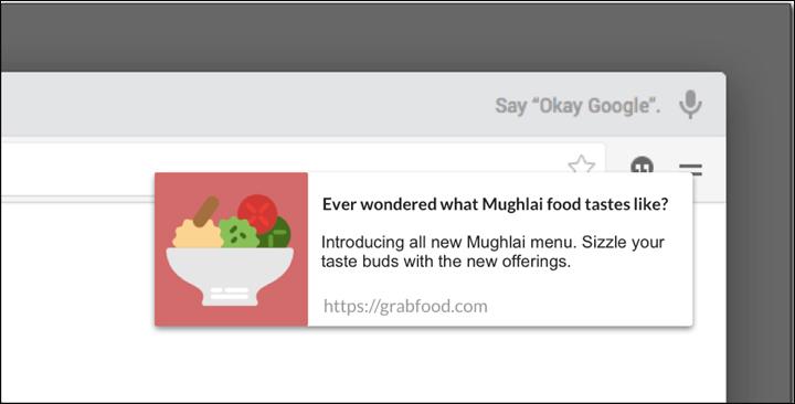 restaurant marketing web push notification