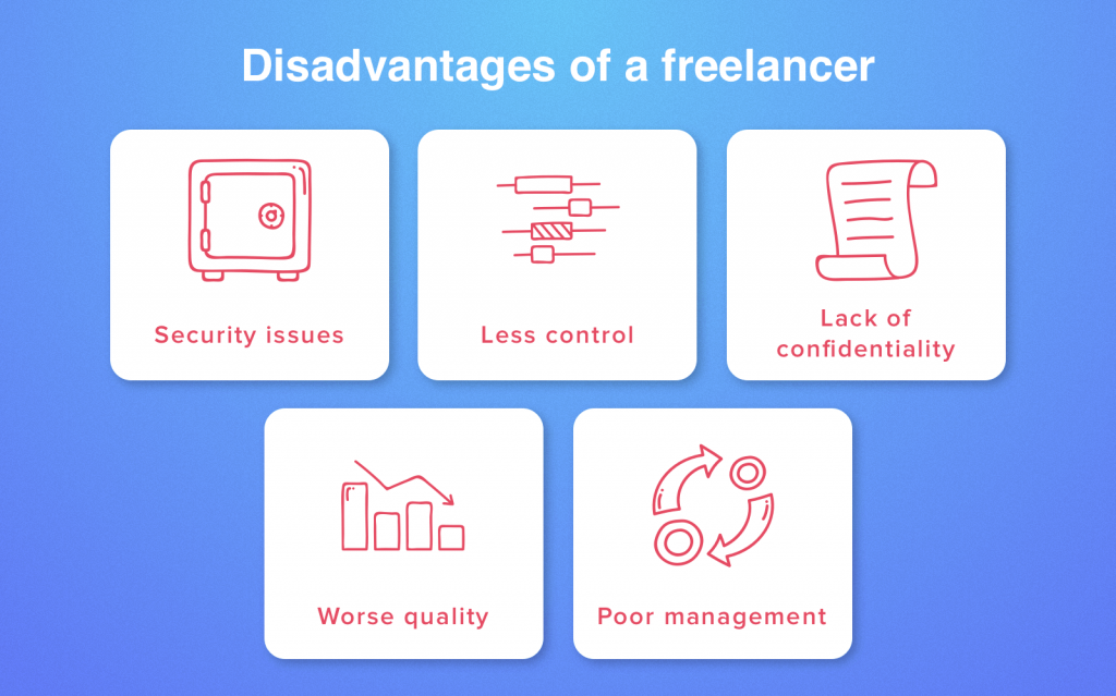 disadvantages of freelancers