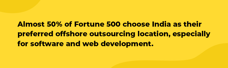 outsource web development to India fortune 500 comonies