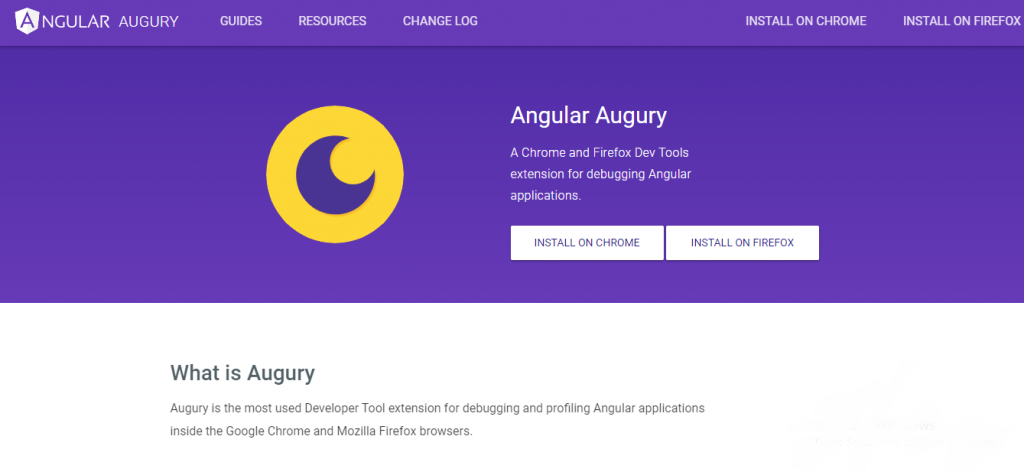 chrome tools for developers - Angular Augury