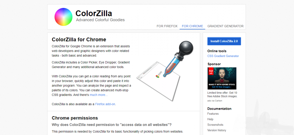 chrome tools for developers - ColorZilla