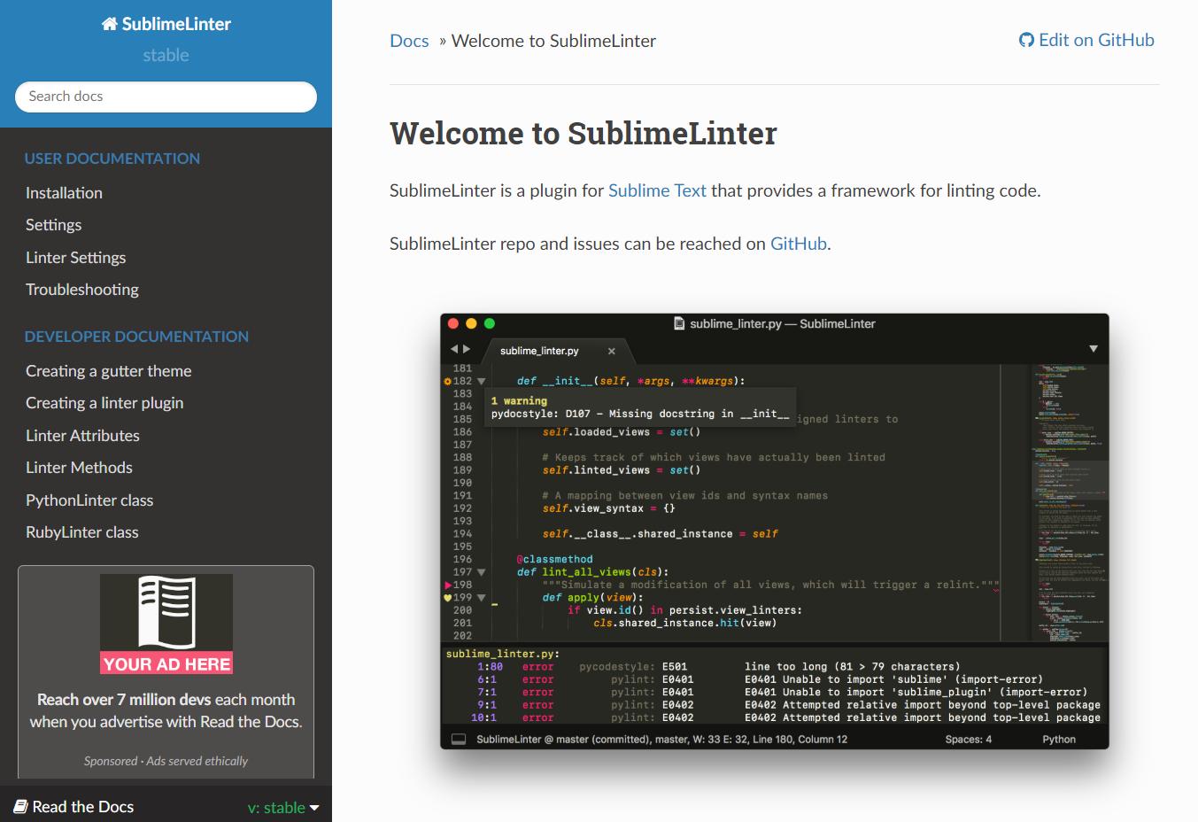 SublimeLinter CSSLint