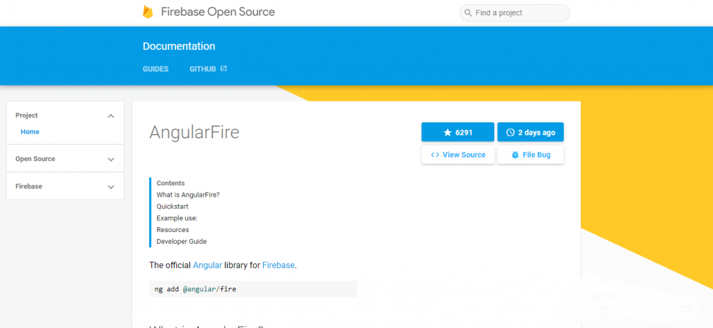 angularjs development tool - Angular Fire