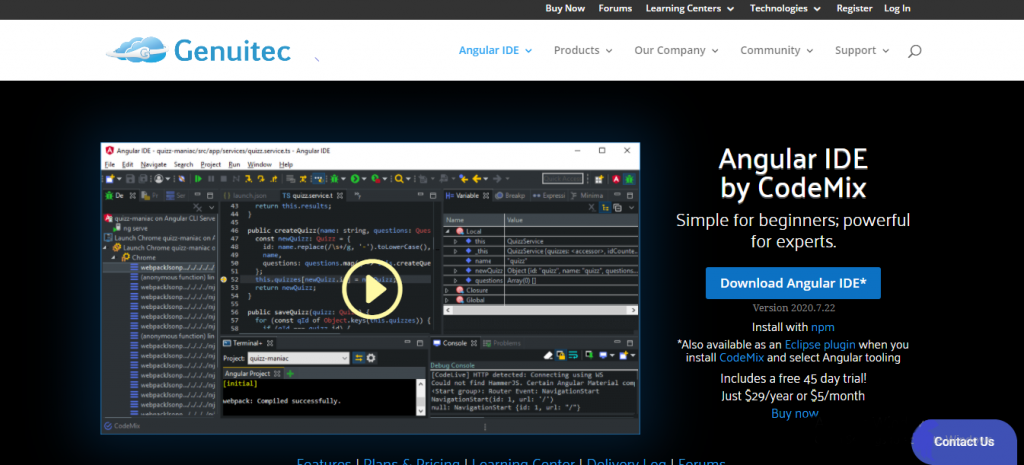 angularjs development tool - Angular IDE