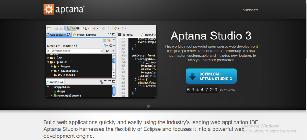 angularjs development tool - Aptana Studio