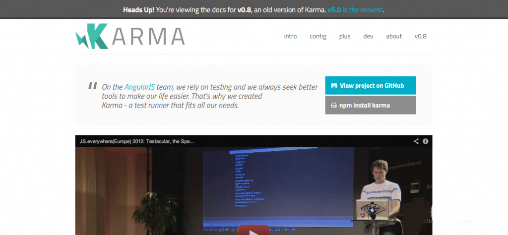 angularjs development tool - Karma