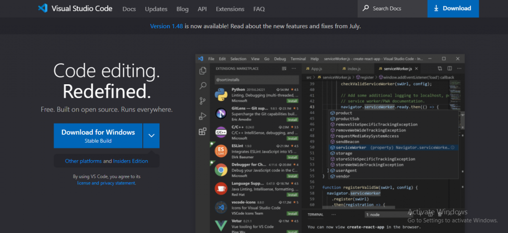 angularjs development tool - Visual Studio
