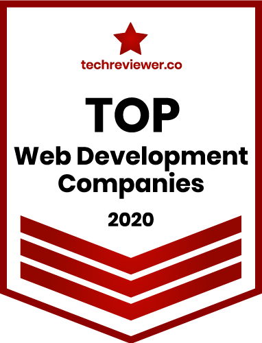 badge for top web development company techreviewer