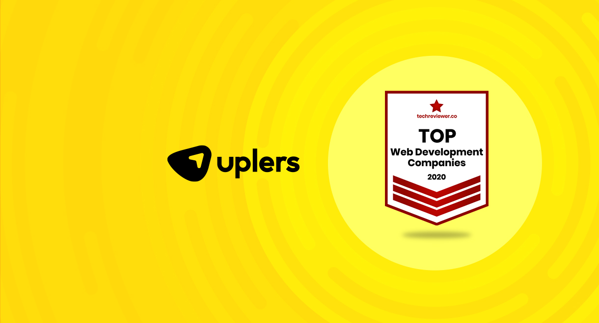 Uplers Named Top Web Development Company in 2020 by TechReviewer