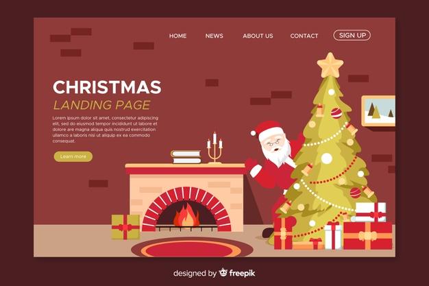 Christmas Theme Landing Page